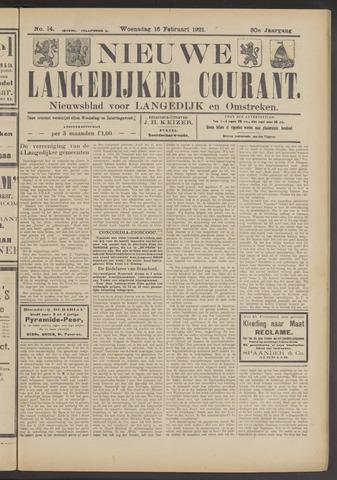 Nieuwe Langedijker Courant 1921-02-16