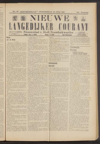 Nieuwe Langedijker Courant 1931-07-30