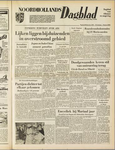 Noordhollands Dagblad : dagblad voor Alkmaar en omgeving 1953-09-28