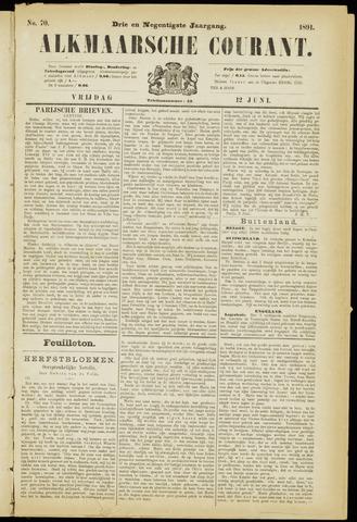 Alkmaarsche Courant 1891-06-12