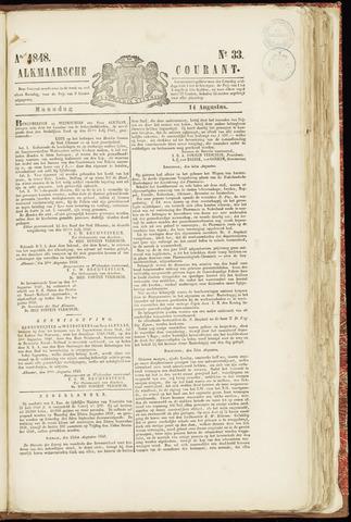 Alkmaarsche Courant 1848-08-14