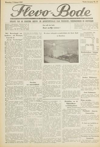 Flevo-bode: nieuwsblad voor Wieringen-Wieringermeer 1949-02-02