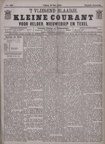 Vliegend blaadje : nieuws- en advertentiebode voor Den Helder 1881-05-20