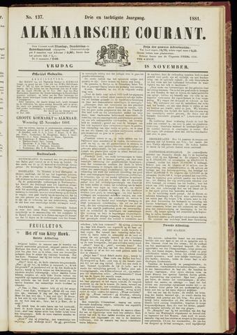 Alkmaarsche Courant 1881-11-18