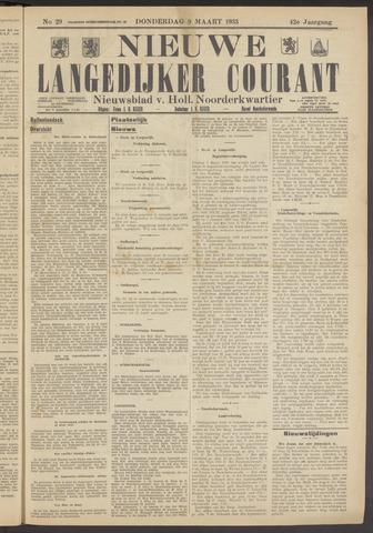Nieuwe Langedijker Courant 1933-03-09