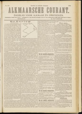 Alkmaarsche Courant 1914-11-24