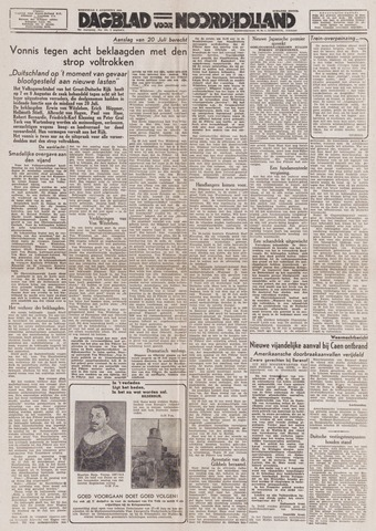 Dagblad Noord-Holland, Schager editie 1944-08-09