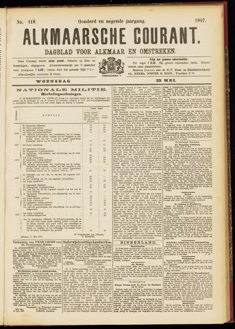 Alkmaarsche Courant 1907-05-22