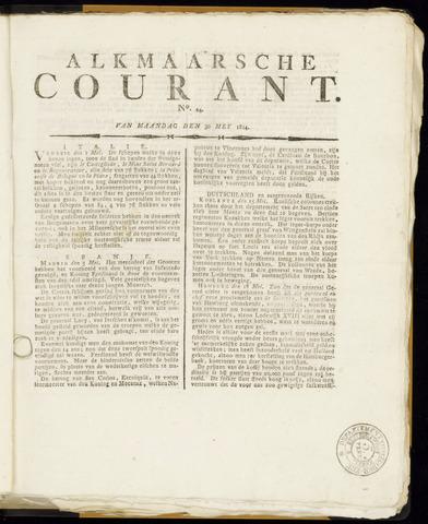 Alkmaarsche Courant 1814-05-30