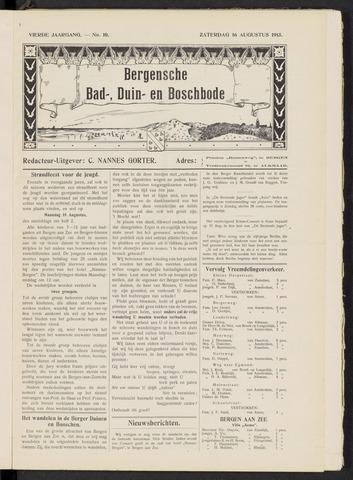 Bergensche bad-, duin- en boschbode 1913-08-16