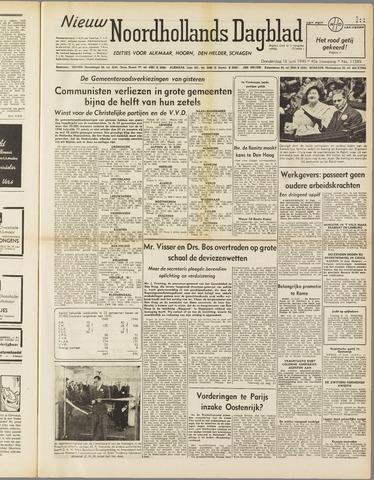 Nieuw Noordhollandsch Dagblad : voor Alkmaar en omgeving 1949-06-16