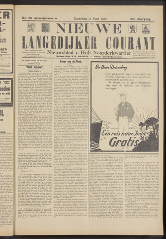 Nieuwe Langedijker Courant 1927-06-11