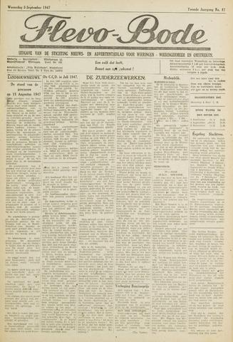 Flevo-bode: nieuwsblad voor Wieringen-Wieringermeer 1947-09-03