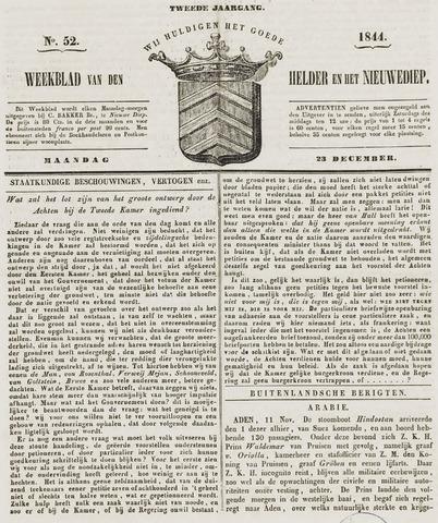 Weekblad van Den Helder en het Nieuwediep 1844-12-23
