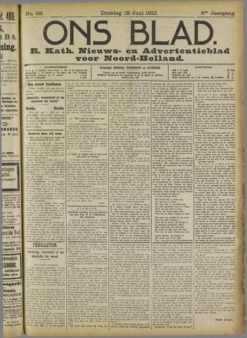 Ons Blad : katholiek nieuwsblad voor N-H 1912-06-18