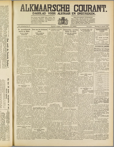 Alkmaarsche Courant 1941-01-21