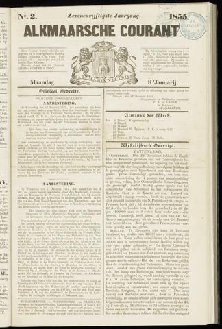 Alkmaarsche Courant 1855-01-08