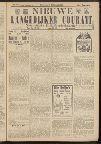Nieuwe Langedijker Courant 1929-02-16
