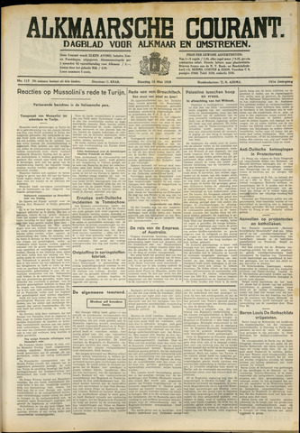Alkmaarsche Courant 1939-05-16
