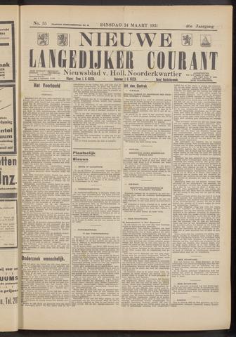 Nieuwe Langedijker Courant 1931-03-24