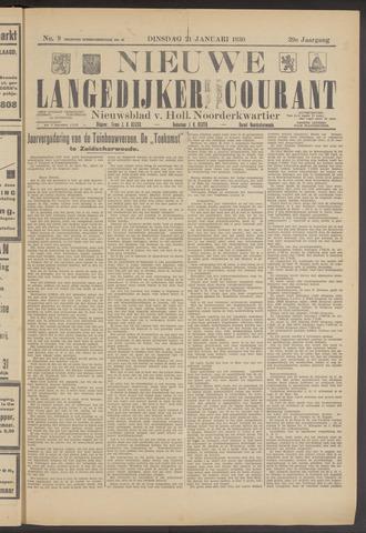 Nieuwe Langedijker Courant 1930-01-21