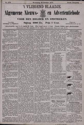 Vliegend blaadje : nieuws- en advertentiebode voor Den Helder 1875-10-20