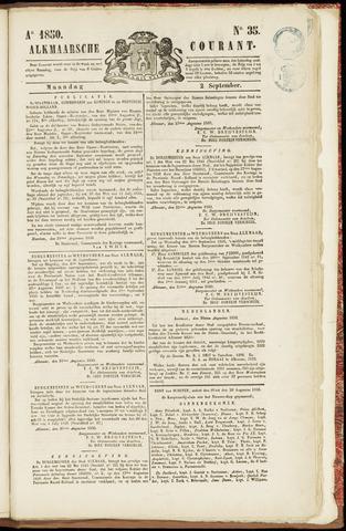 Alkmaarsche Courant 1850-09-02