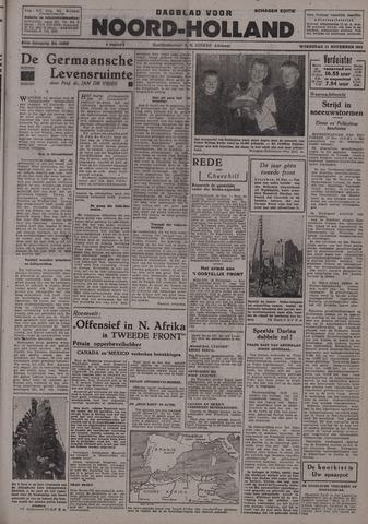 Dagblad Noord-Holland, Schager editie 1942-11-11