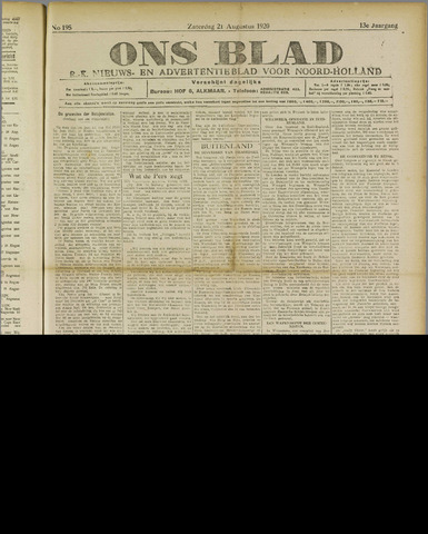 Ons Blad : katholiek nieuwsblad voor N-H 1920-08-21