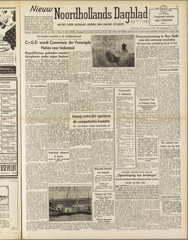 Nieuw Noordhollandsch Dagblad : voor Alkmaar en omgeving 1949-01-22