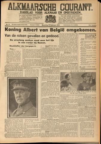 Alkmaarsche Courant 1934-02-19