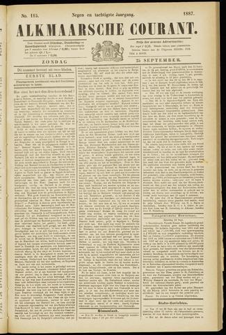 Alkmaarsche Courant 1887-09-25