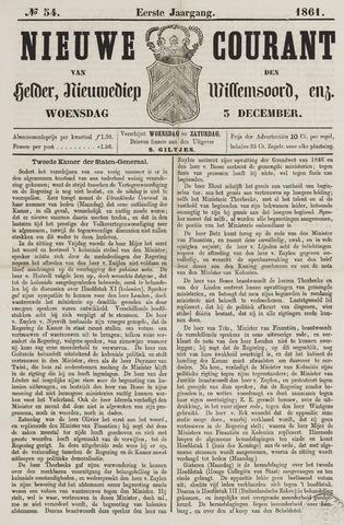 Nieuwe Courant van Den Helder 1861-12-04