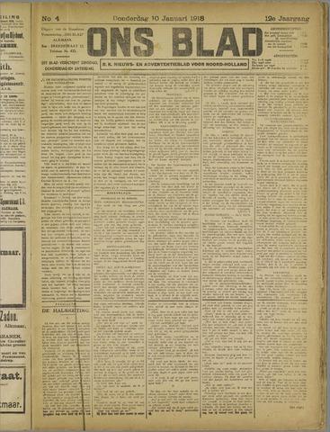 Ons Blad : katholiek nieuwsblad voor N-H 1918-01-10
