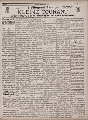 Vliegend blaadje : nieuws- en advertentiebode voor Den Helder 1904-12-14