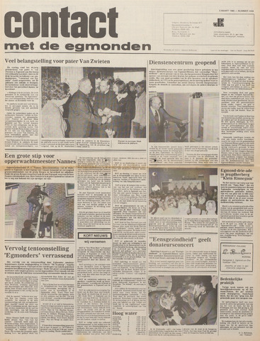 Contact met de Egmonden 1980-03-05