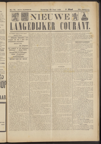 Nieuwe Langedijker Courant 1923-06-23