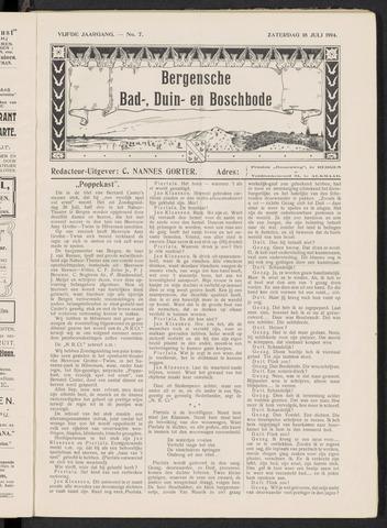 Bergensche bad-, duin- en boschbode 1914-07-18