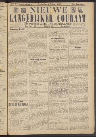Nieuwe Langedijker Courant 1928-10-04
