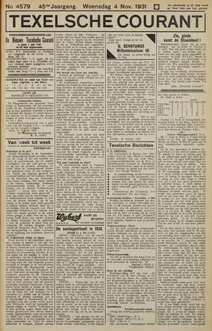 Texelsche Courant 1931-11-04
