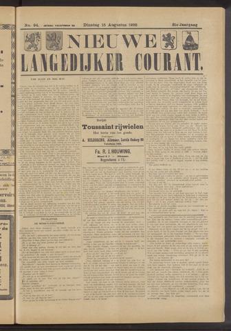 Nieuwe Langedijker Courant 1922-08-15