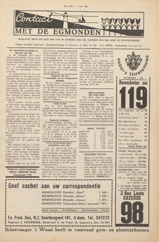 Contact met de Egmonden 1964-07-02