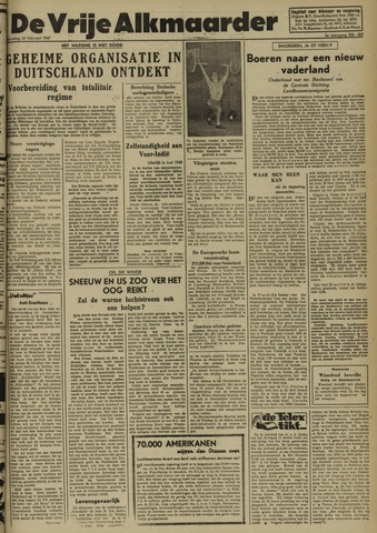 De Vrije Alkmaarder 1947-02-24