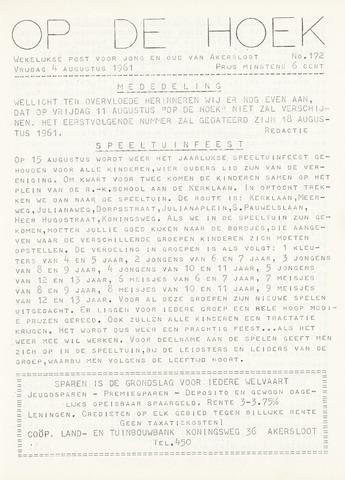 Op De Hoek, weekblad voor Akersloot 1961-08-04