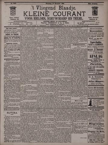 Vliegend blaadje : nieuws- en advertentiebode voor Den Helder 1896-11-18