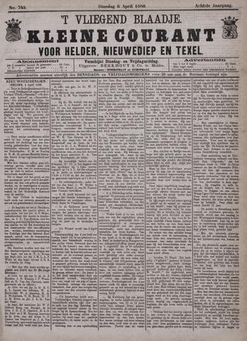 Vliegend blaadje : nieuws- en advertentiebode voor Den Helder 1880-04-06