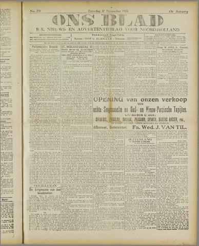 Ons Blad : katholiek nieuwsblad voor N-H 1920-11-27
