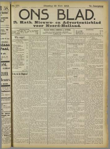 Ons Blad : katholiek nieuwsblad voor N-H 1913-11-25