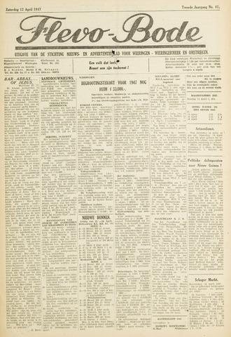 Flevo-bode: nieuwsblad voor Wieringen-Wieringermeer 1947-04-12