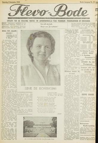 Flevo-bode: nieuwsblad voor Wieringen-Wieringermeer 1948-09-04